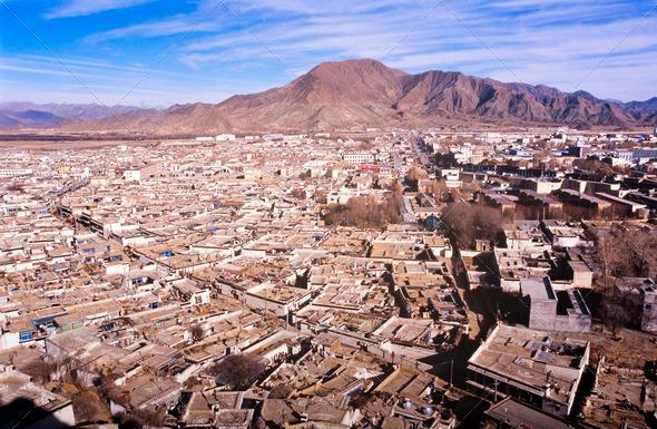 Tibetan City - Stock Photo - Images