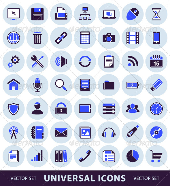 GraphicRiver Universal Computer Icons 4250858