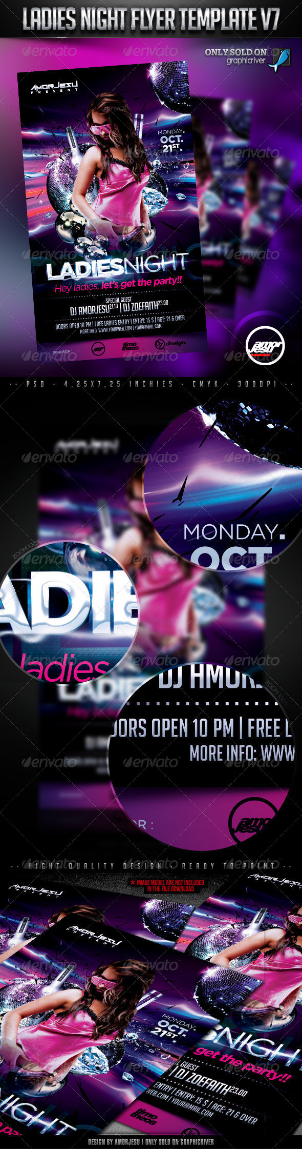 Ladies Night Flyer Template V7 - Clubs & Parties Events