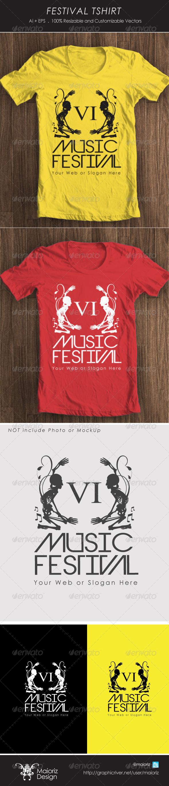 GraphicRiver Festival Tshirt 4251090