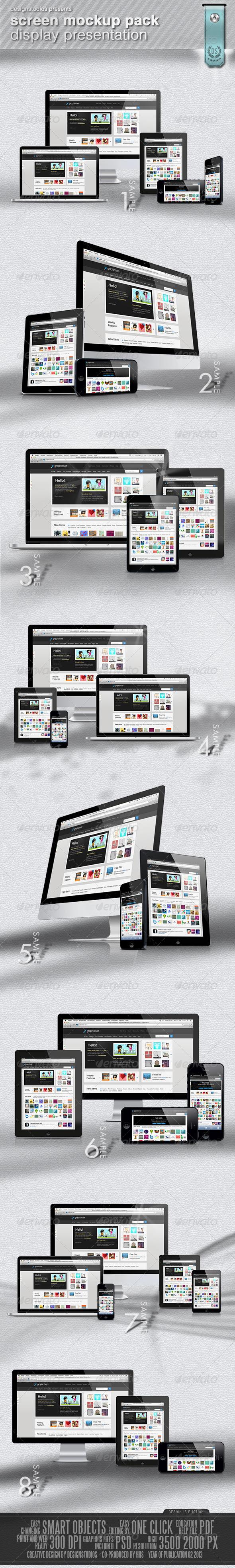 Screen MockUp Pack Display Presentation