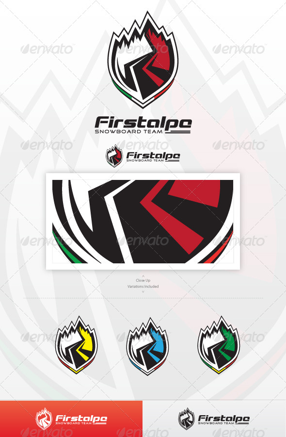 GraphicRiver Snow Team Logo 3885244