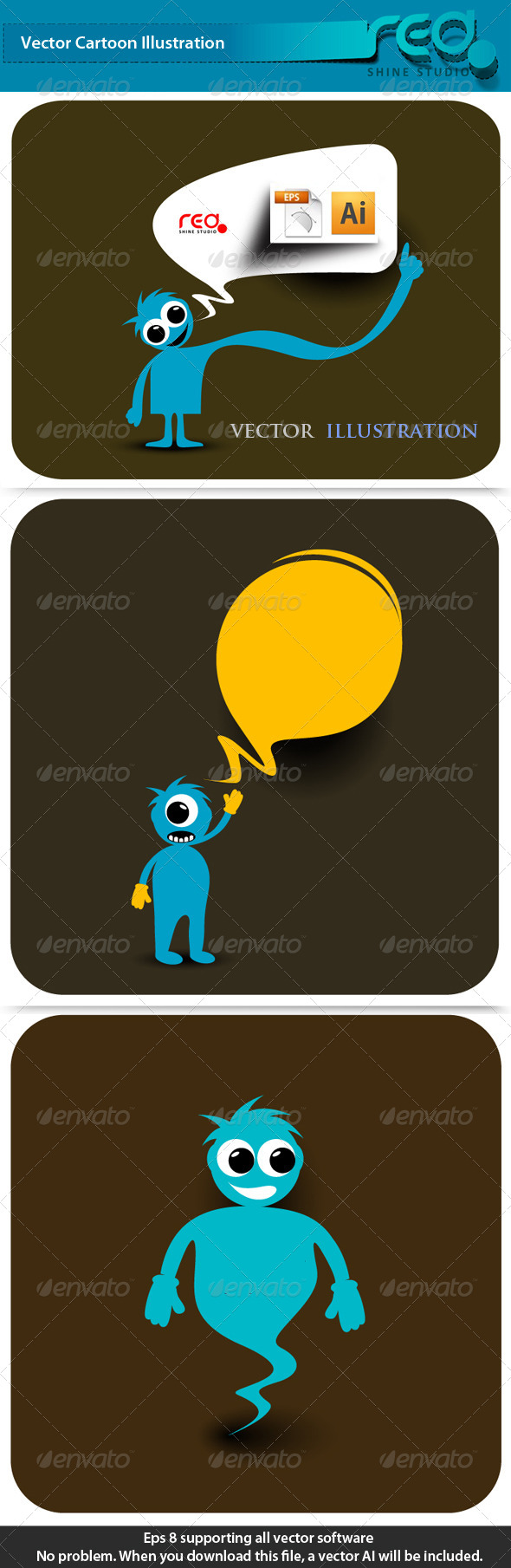 GraphicRiver Monster Cartoon Character 4251253