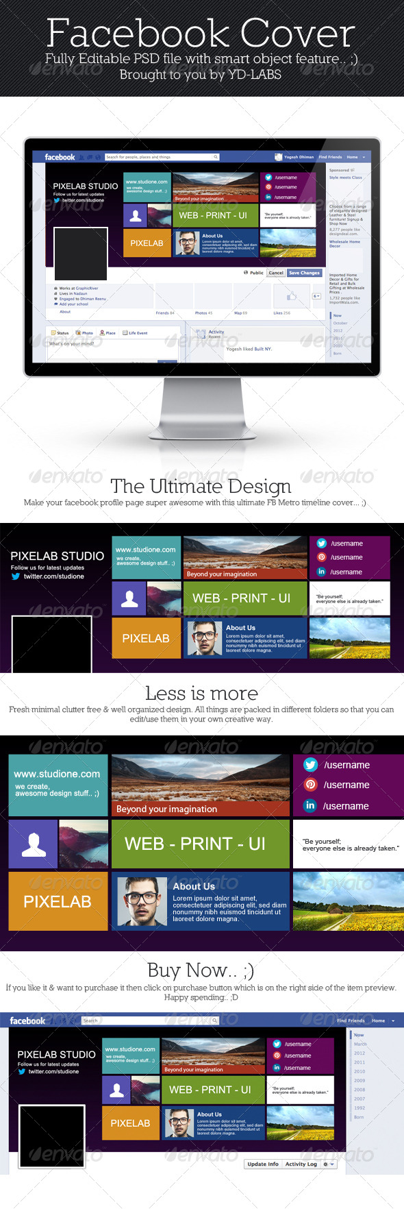 GraphicRiver FB Metro Cover 4251280