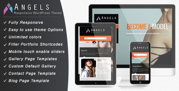 ThemeForest Angel Fashion Model Agency WordPress CMS Theme 4251413