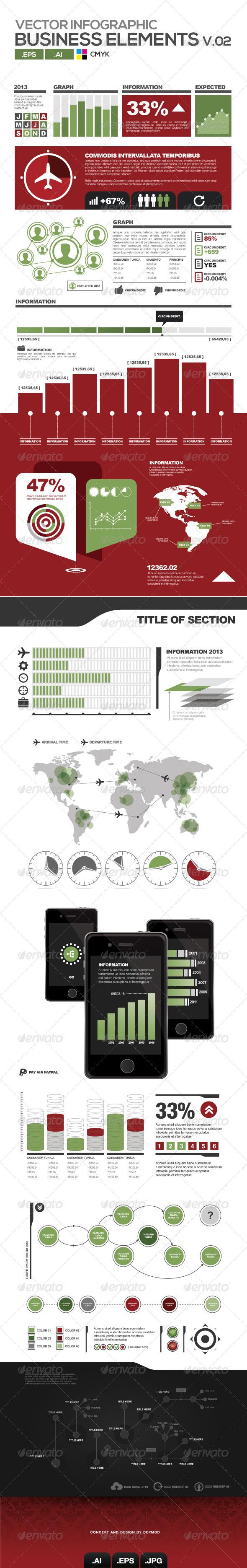 GraphicRiver Vectors Business Elements V02 4251608