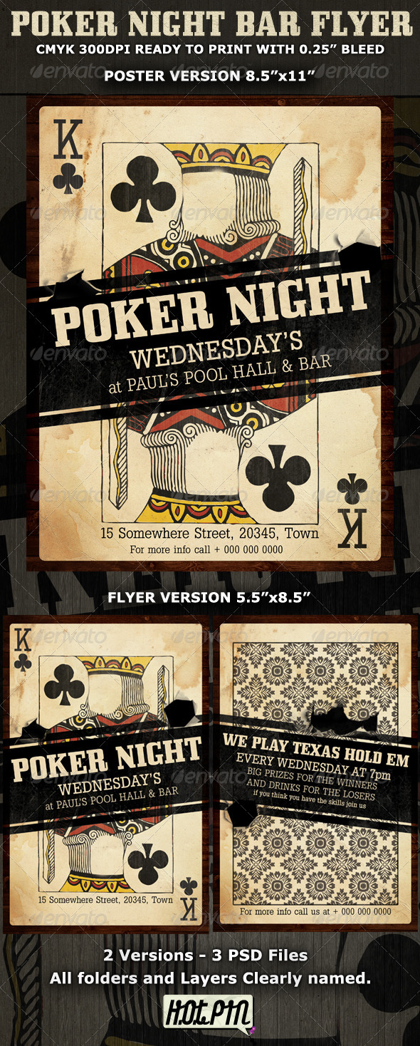 GraphicRiver Poker Night Flyer Template 460702