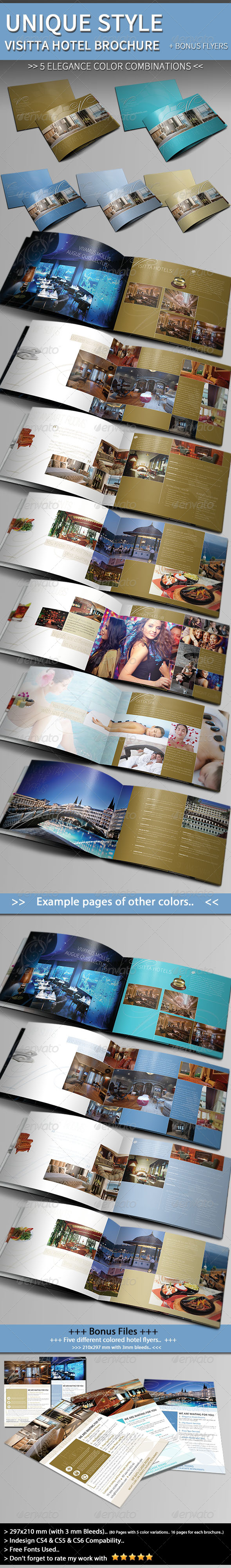 GraphicRiver Unique Hotel Brochure Template & Bonus Flyer 4251961