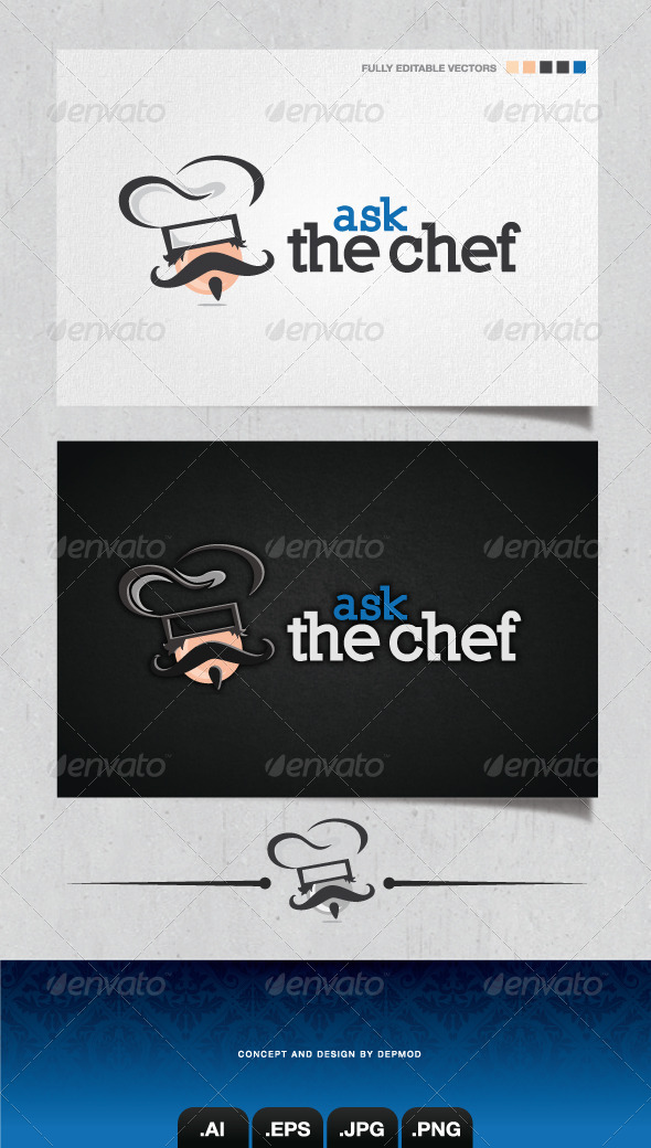 GraphicRiver Ask The Chef V.02 Logo 4252208