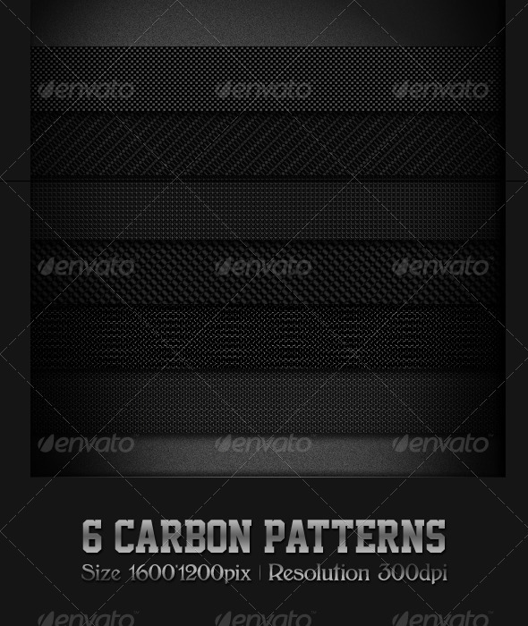 GraphicRiver 6 Carbon Patterns 460838