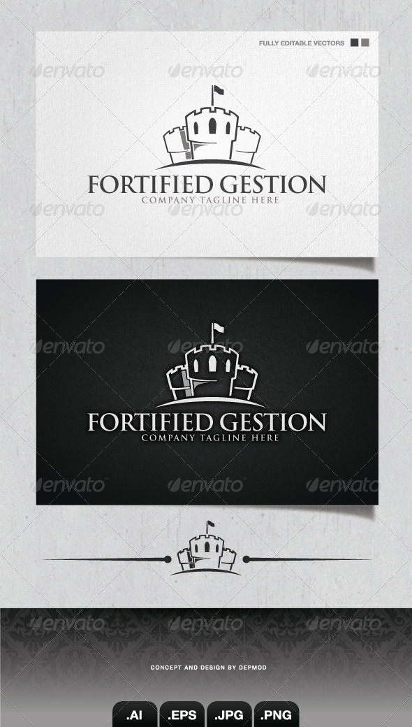 GraphicRiver Fortified Gestion Logo 4253987