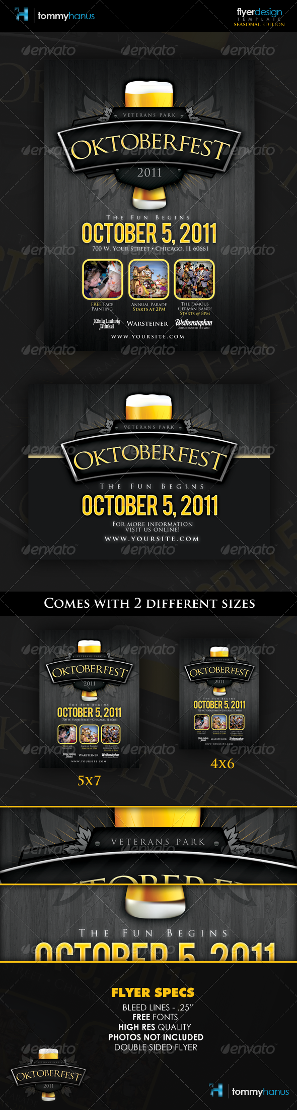 GraphicRiver Oktoberfest Event Flyer Template 460892