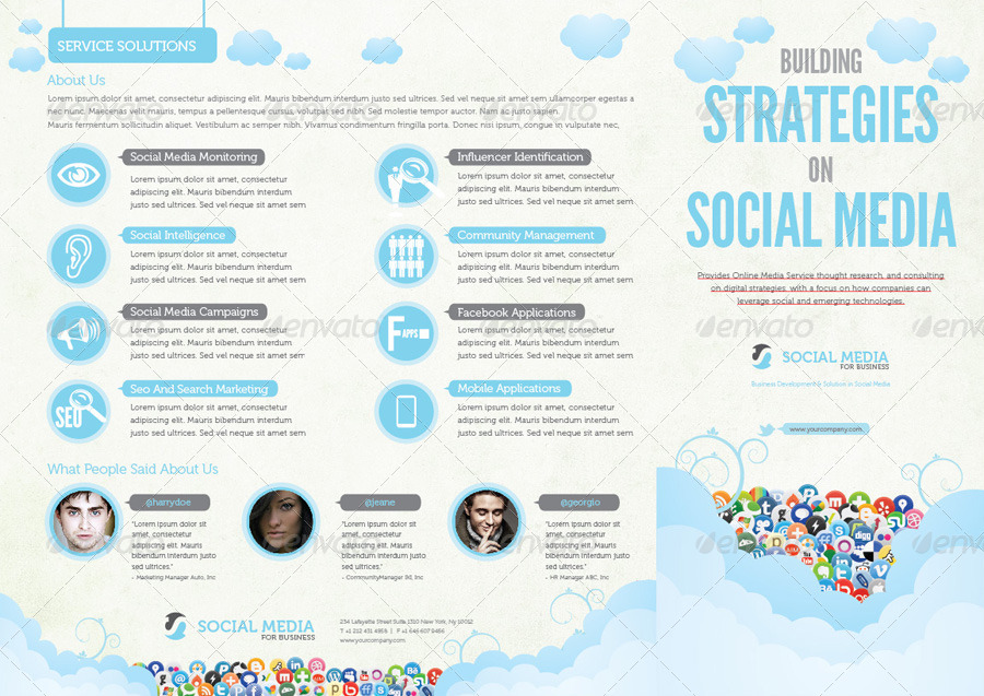 Social media print template packages vol 2 by afahmy for Social media rfp template