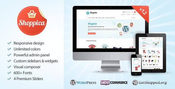 Shoppica - Responsive E-commerce WordPress Theme - ThemeForest Item for Sale