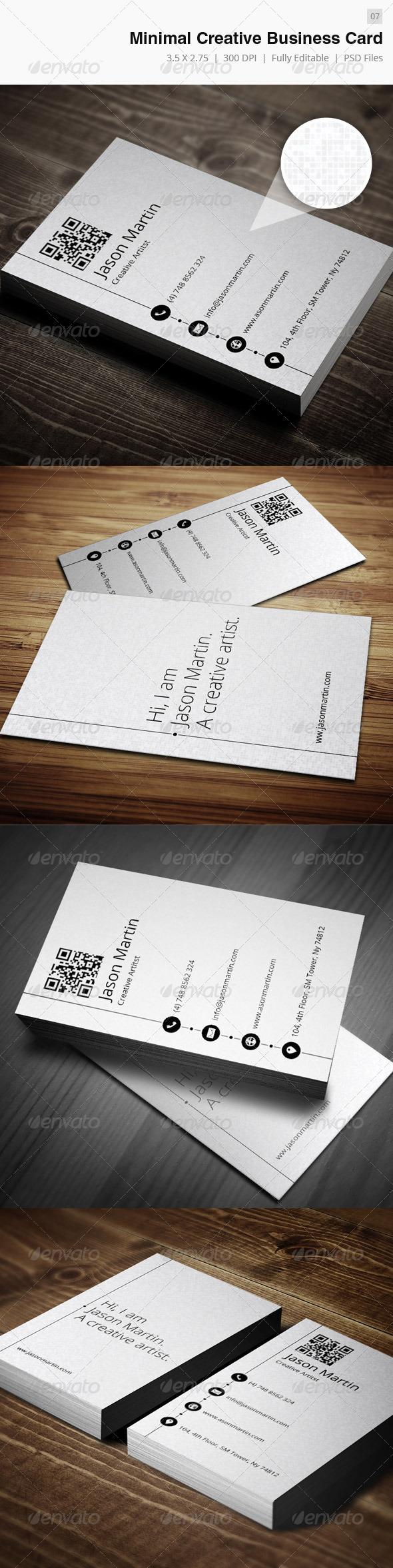 GraphicRiver Creative Minimal Business Card 4065268