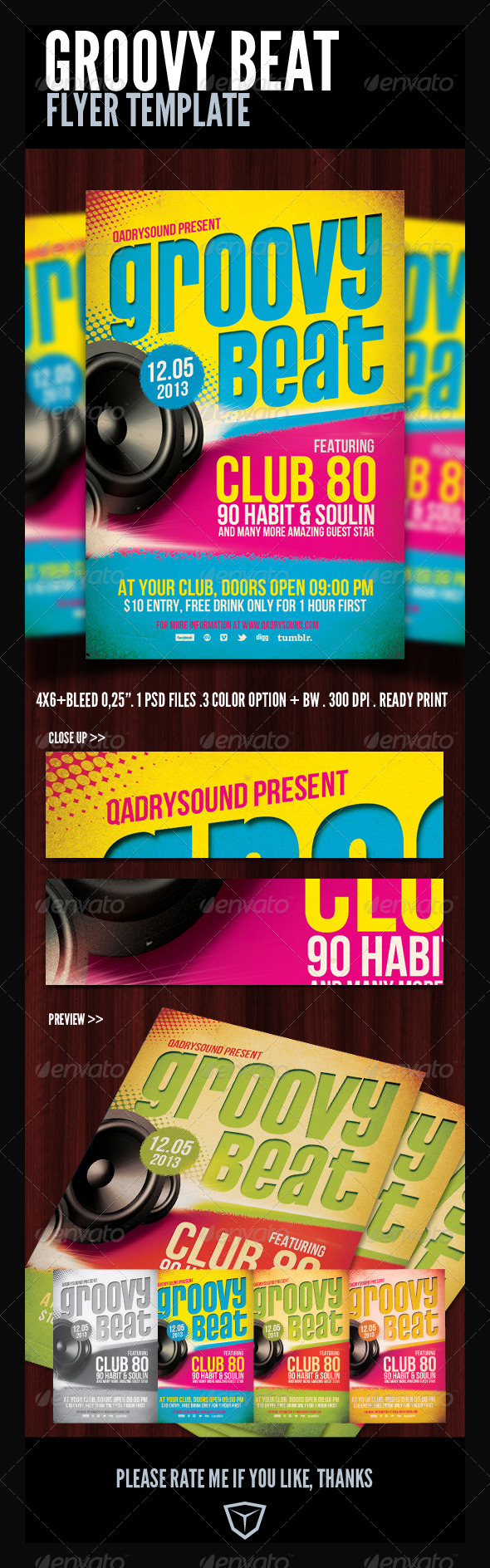 GraphicRiver Groovy Flyer Poster Template 4254488