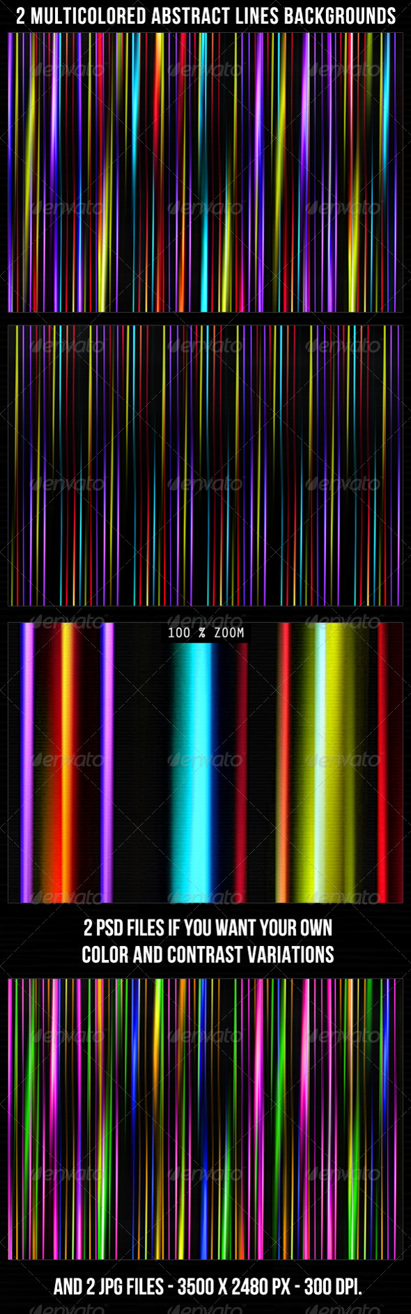 2 Multicolored Abstract Backgrounds