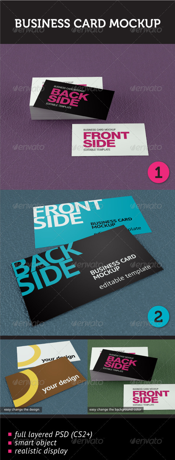 GraphicRiver Business Card Mockup 459797