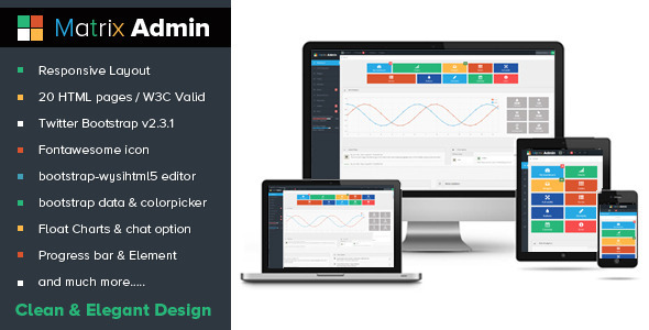 Matrix Admin - Admin Templates Site Templates