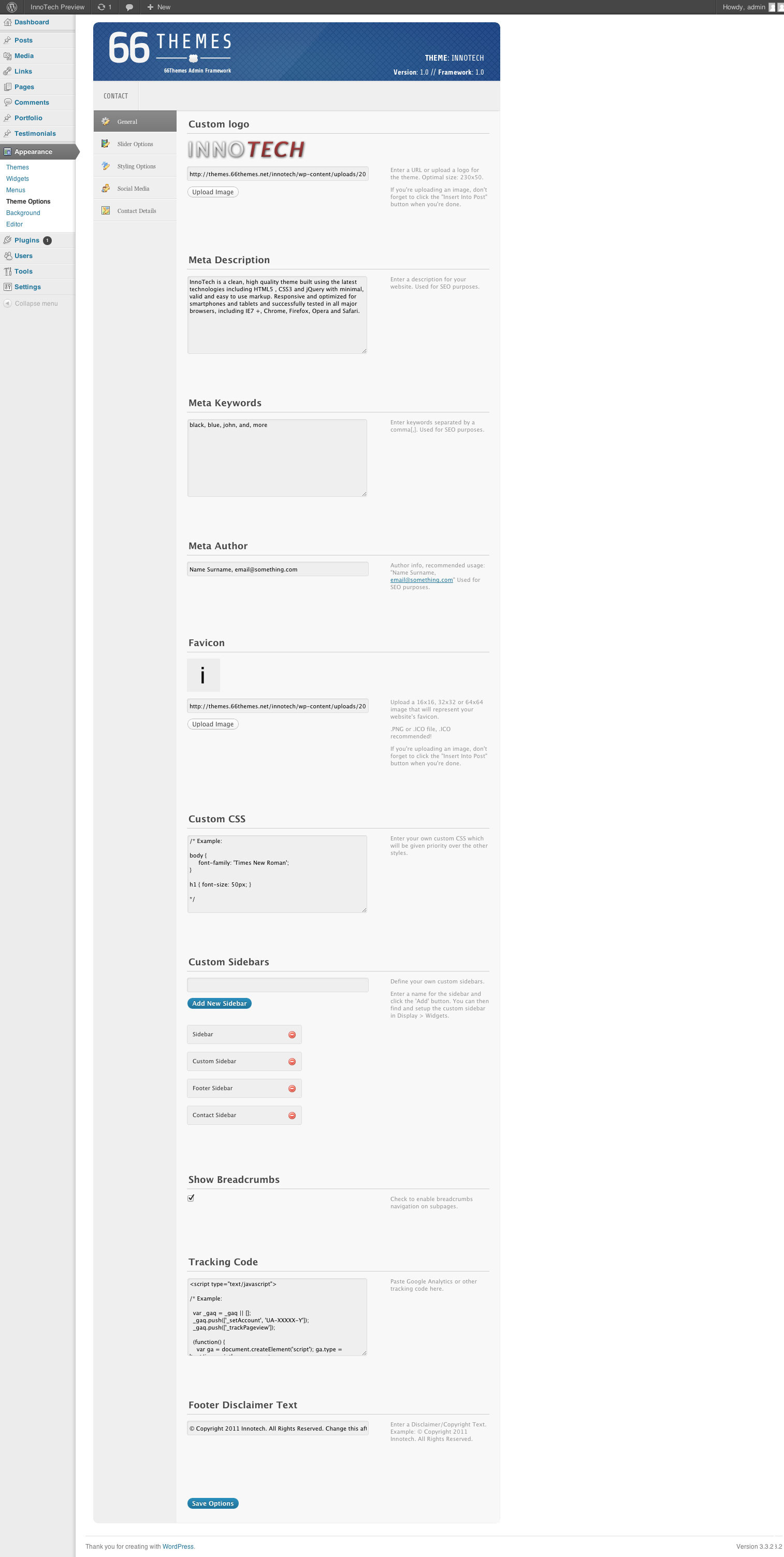 InnoTech - Premium Responsive WordPress Theme