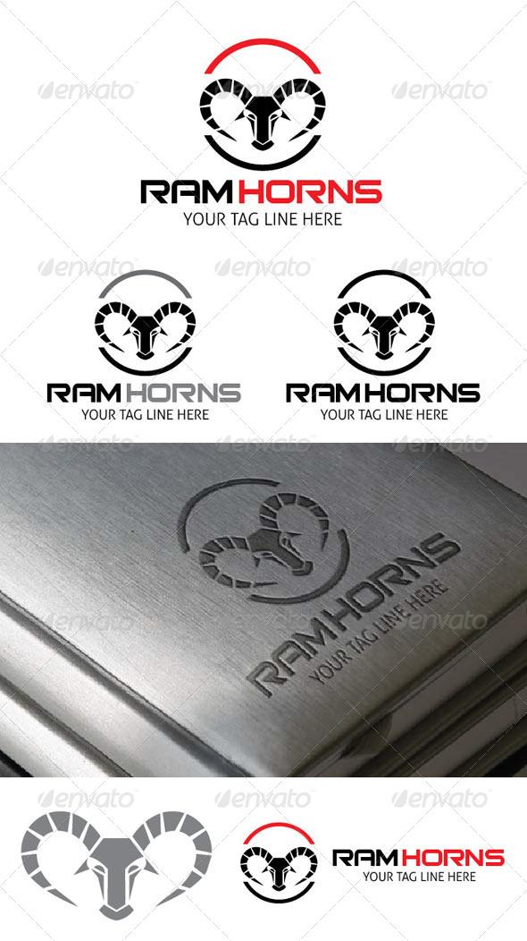 Ram Horns Logo Template