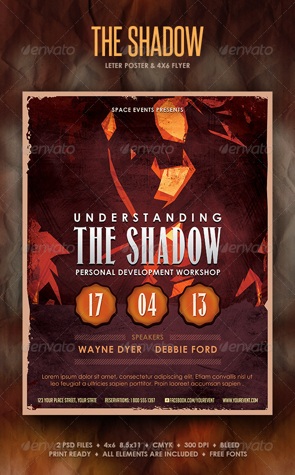 GraphicRiver The Shadow Poster and Flyer 4255594