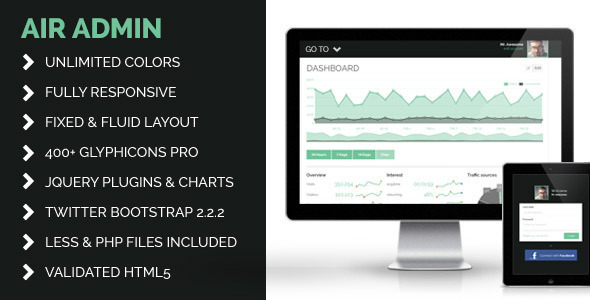 AIR - Responsive Bootstrap Admin Template