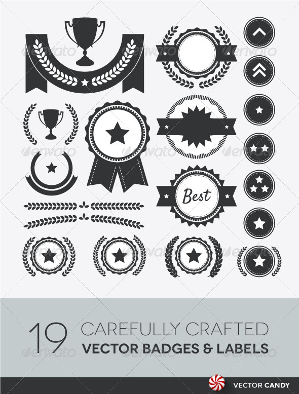 GraphicRiver Award Competition and Rank Vector Element Set 4255895