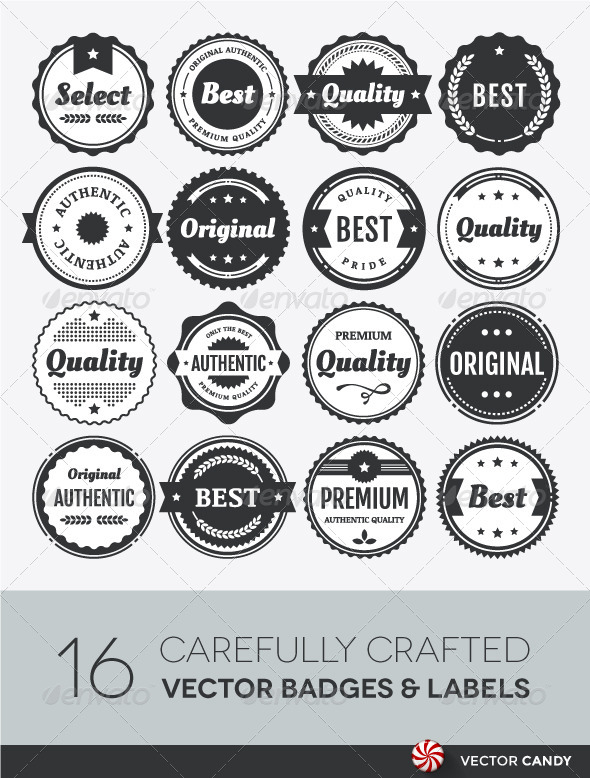 GraphicRiver Premium Vector Badge and Label Elements Collection 4256130