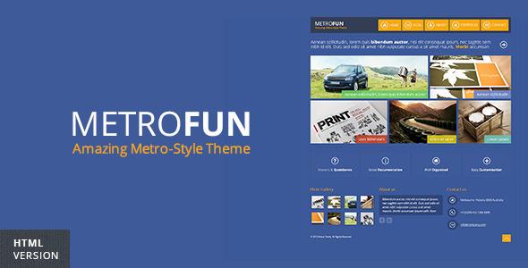ThemeForest Metrofun Metro Style HTML Theme 4240107