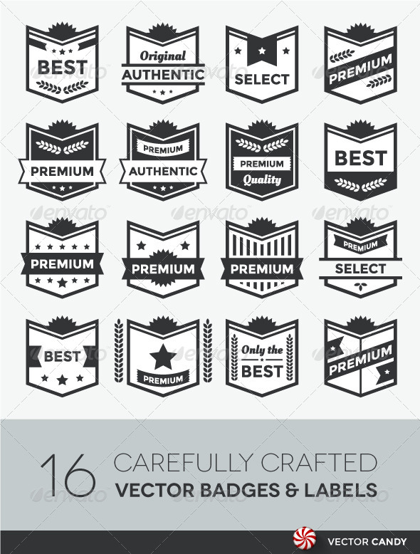 GraphicRiver Modern Vector Badge Shields and Label Collection 4256232