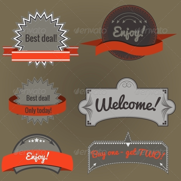 GraphicRiver Set of Retro Labels 4256310