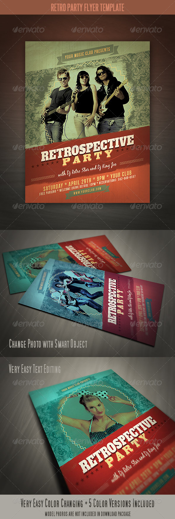 GraphicRiver Retro Party Flyer 4256777
