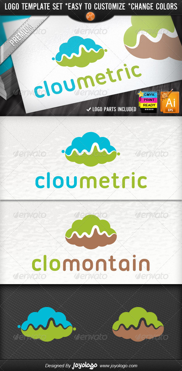 GraphicRiver Statistics Metrics Analytics Cloud Logo Template 4256802