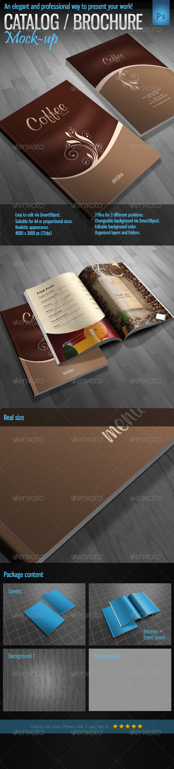Brochure Catalog Magazine Mock-Up