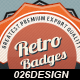 5 Glossy Retro Badges - GraphicRiver Item for Sale