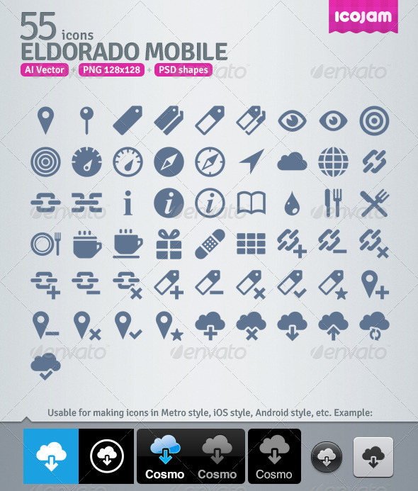 GraphicRiver 55 AI and PSD Mobile strict Icons 4257336