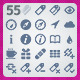 55 AI and PSD Mobile strict Icons - GraphicRiver Item for Sale