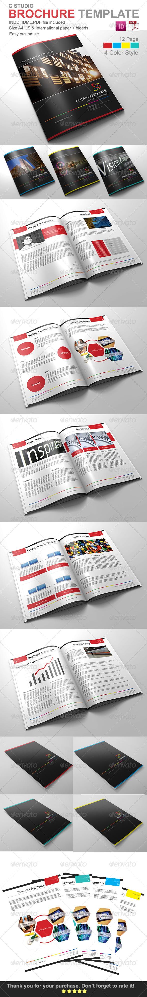 GraphicRiver Gstudio Brochure Template 4257499
