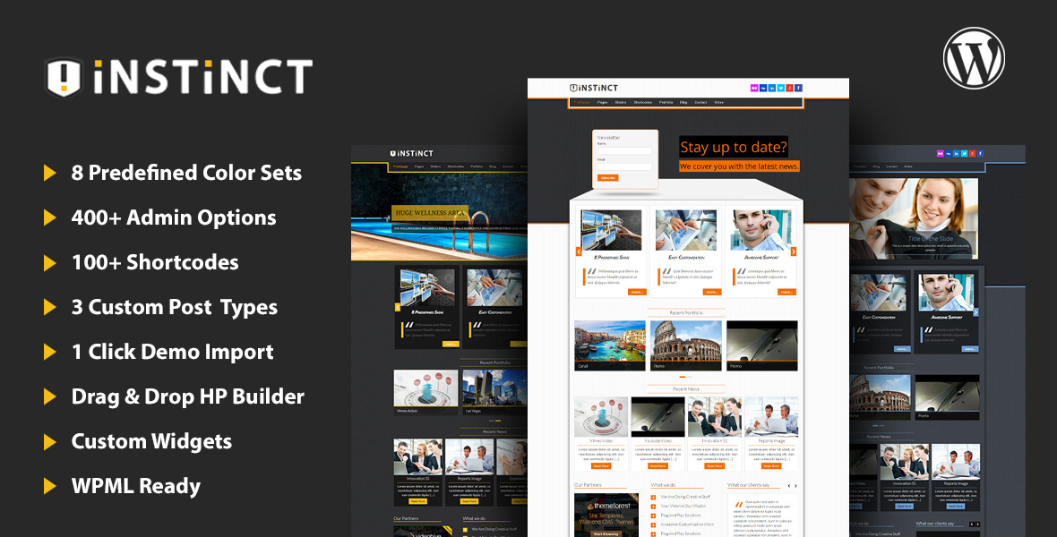 Instinct - Multipurpose WordPress Theme