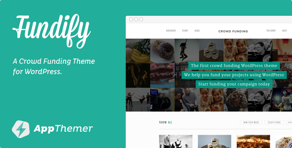 Tema de WordPress para Web de Crowdfunding: Fundify