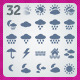 32 AI and PSD Weather strict Icons  - GraphicRiver Item for Sale