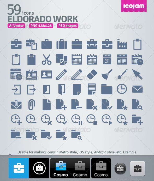 59 AI and PSD Work strict Icons  - Business Icons