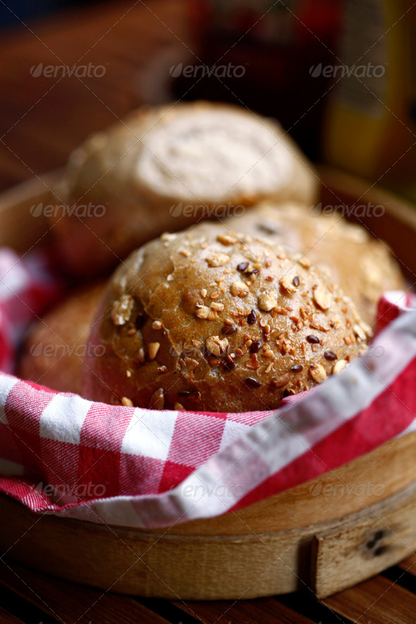 Bread in Basket - Stock Photo - Images