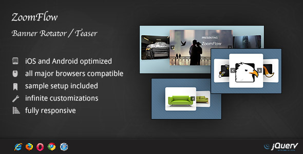 CodeCanyon ZoomFlow Banner Rotator Teaser 4257939