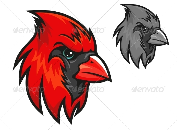 GraphicRiver Red Cardinal Bird in Cartoon Style 4258010