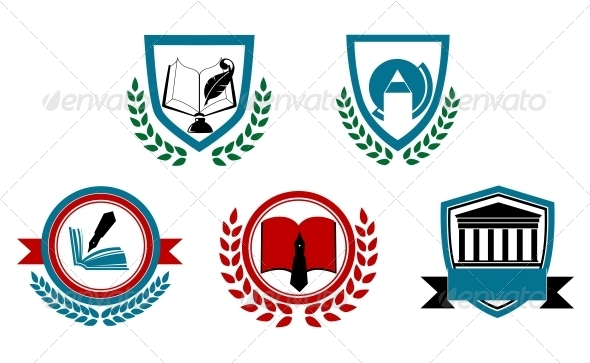 GraphicRiver Set of Abstract University or College Symbols 4258044