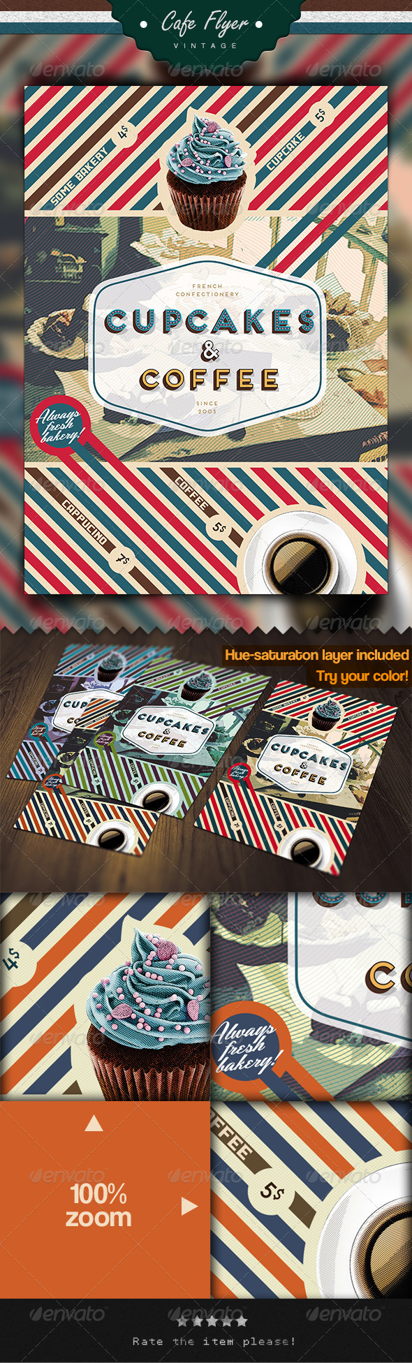 Coffee & Cupcake Flyer - Restaurant Flyers