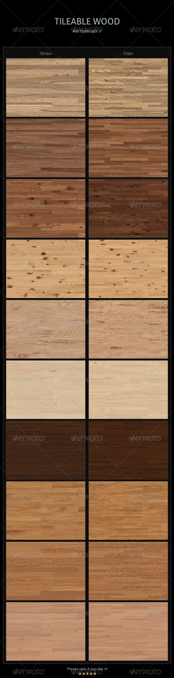 GraphicRiver 20 Tileable Wood Textures Patterns 4258231