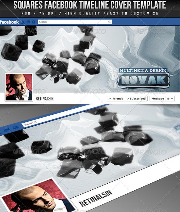 GraphicRiver Squares FB Timeline Cover 4258295